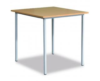 Klubový stôl zo štvorcového profilu 06-076 09 120x80 cm - svetlosivá / buk