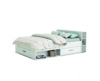 Manželská posteľ s úložným priestorom Roket 140 - biela