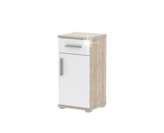 Kúpeľňová skrinka Lessy LI 3 - dub sonoma / biely vysoký lesk