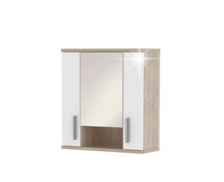 Kúpeľňová skrinka na stenu Lessy LI 1 - dub sonoma / biely vysoký lesk