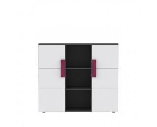 Skrinka Lobete 43 - sivá / biela / fialová