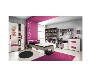 Detská izba Lobete - sivá / biela / fialová