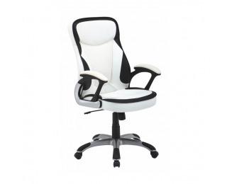 Kancelárske kreslo s podrúčkami Afra - biela / čierna