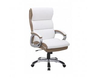 Kancelárske kreslo s podrúčkami Kolo CH137020 - biela / hnedá