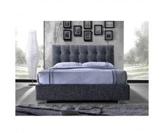 Čalúnená manželská posteľ s roštom Ragnar 160 - tmavosivá