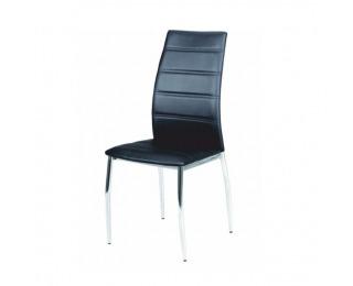 Jedálenská stolička Dela - čierna / chróm