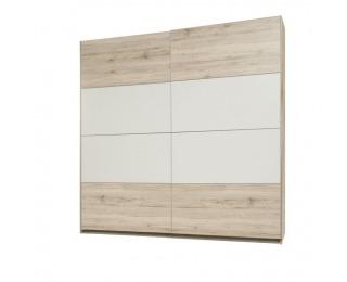 Šatníková skriňa s posuvnými dverami Valeria 82 2D - dub pieskový / biela