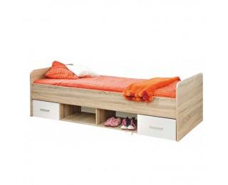 Detská posteľ s úložným priestorom Emio Typ 4 90 - dub sonoma / biela