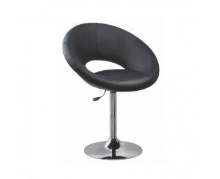 Barová stolička Agap - čierna / chróm