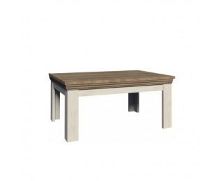 Konferenčný stolík Royal LN - biela sosna nordická / dub divoký
