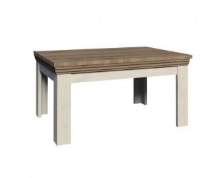Rozkladací jedálenský stôl Royal ST - biela sosna nordická / dub divoký