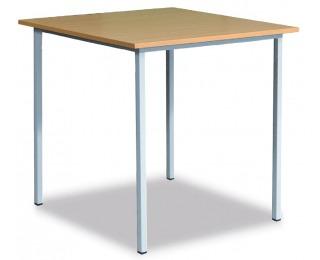 Klubový stôl zo štvorcového profilu 06-076 30 160x80 cm - svetlosivá / buk