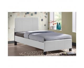 Čalúnená jednolôžková posteľ s roštom Arkona 90 - biela