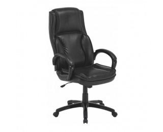 Kancelárske kreslo s podrúčkami Lumir - čierna