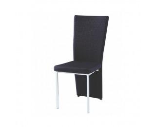 Jedálenská stolička Madea - čierna / chróm