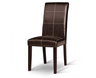 Jedálenská stolička Rory - tmavý orech / tmavohnedá