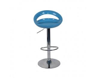 Barová stolička Dongo - tyrkysová / chróm
