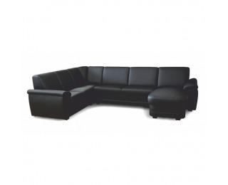 Rohová sedačka U na mieru s rozkladom Biter U P - čierna