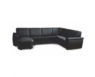Rohová sedačka U na mieru s rozkladom Biter U L - čierna