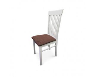 Jedálenská stolička Astro - biela / hnedá