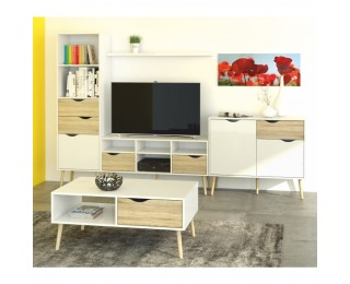 Obývacia izba Oslo - dub sonoma / biela