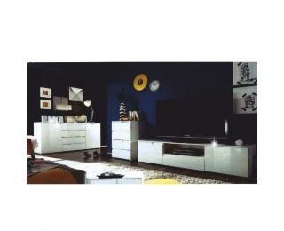 Obývacia izba Spice - biely vysoký lesk