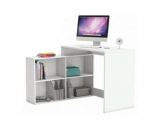 Rohový PC stolík Korner - biela