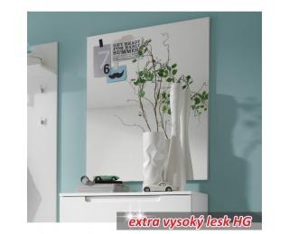 Zrkadlo na stenu Space - biely vysoký lesk