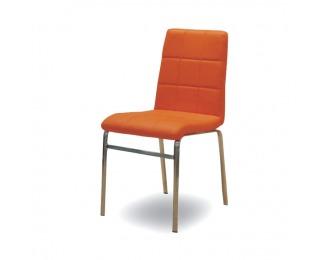 Jedálenská stolička Doroty New - oranžová ekokoža