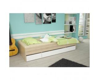 Jednolôžková posteľ s úložným priestorom Matiasi 90 - dub sonoma / biela
