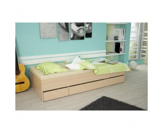 Jednolôžková posteľ s úložným priestorom Matiasi 90 - buk