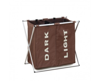 Kôš na prádlo Laundry Typ 2 - tmavohnedá