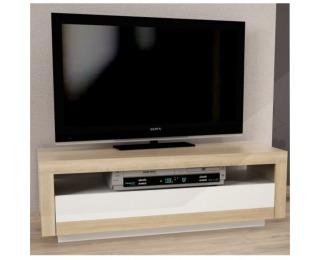 TV stolík Agnes - dub sonoma / biela
