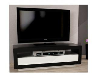 TV stolík Agnes - čierna / biela