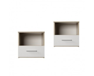 Nočný stolík (2 ks) Gabriela - dub sonoma / biela