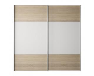 Šatníková skriňa s posuvnými dverami Gabriela - dub sonoma / biela