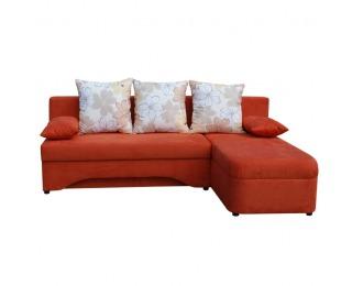 Rohová sedačka s rozkladom Polaris New L/P - pomarančová