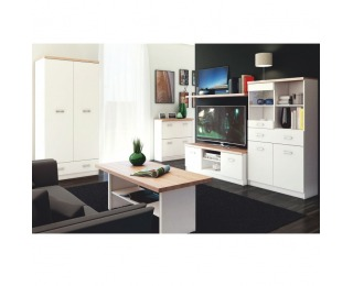 Obývacia izba Topty - biela / dub sonoma