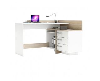 Rohový PC stolík Tale 484881 L/P - dub sonoma / biela