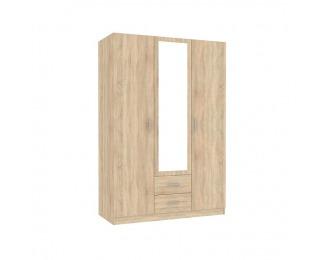 Šatníková skriňa so zrkadlom Invita Typ 2 3D - dub sonoma