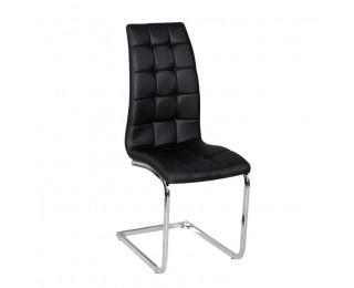 Jedálenská stolička Dulcia - čierna / chróm