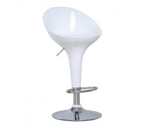 Barová stolička Alba HC-169 New - chróm / biela