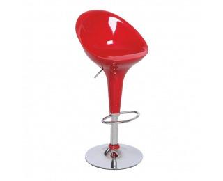 Barová stolička Alba HC-169 New - chróm / červená