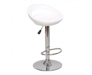 Barová stolička Dongo HC-104 New - biela / chróm