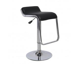 Barová stolička Ilana - čierna / chróm