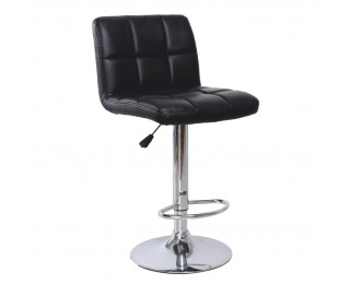 Barová stolička Kandy - čierna / chróm