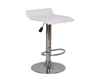 Barová stolička Laria - biela / chróm