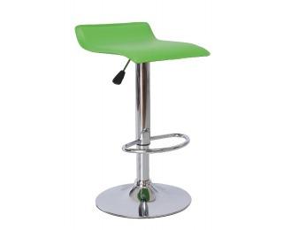 Barová stolička Laria - zelená / chróm