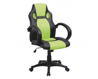 Kancelárske kreslo s podrúčkami Lester - čierna / zelená