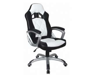 Kancelárske kreslo s podrúčkami Lotar - čierna / biela